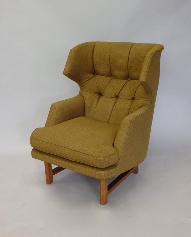 Edward Wormley for Dunbar Modernist Wingback Lounge Chair 6