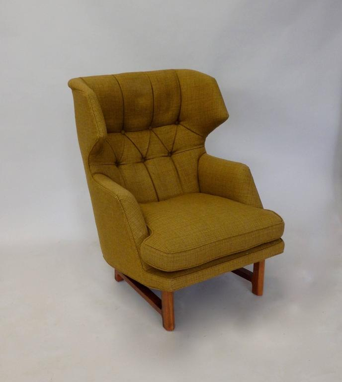 Edward Wormley for Dunbar Modernist Wingback Lounge Chair 7