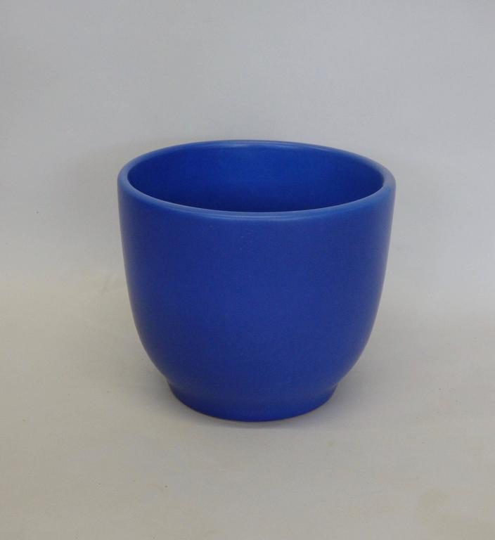 Vivid Blue California Modern Planter Pot By Gainey