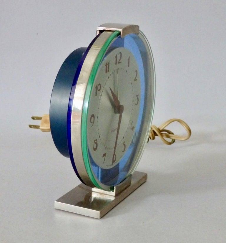 Westclox Andover American Art Deco clock in excellent condition.