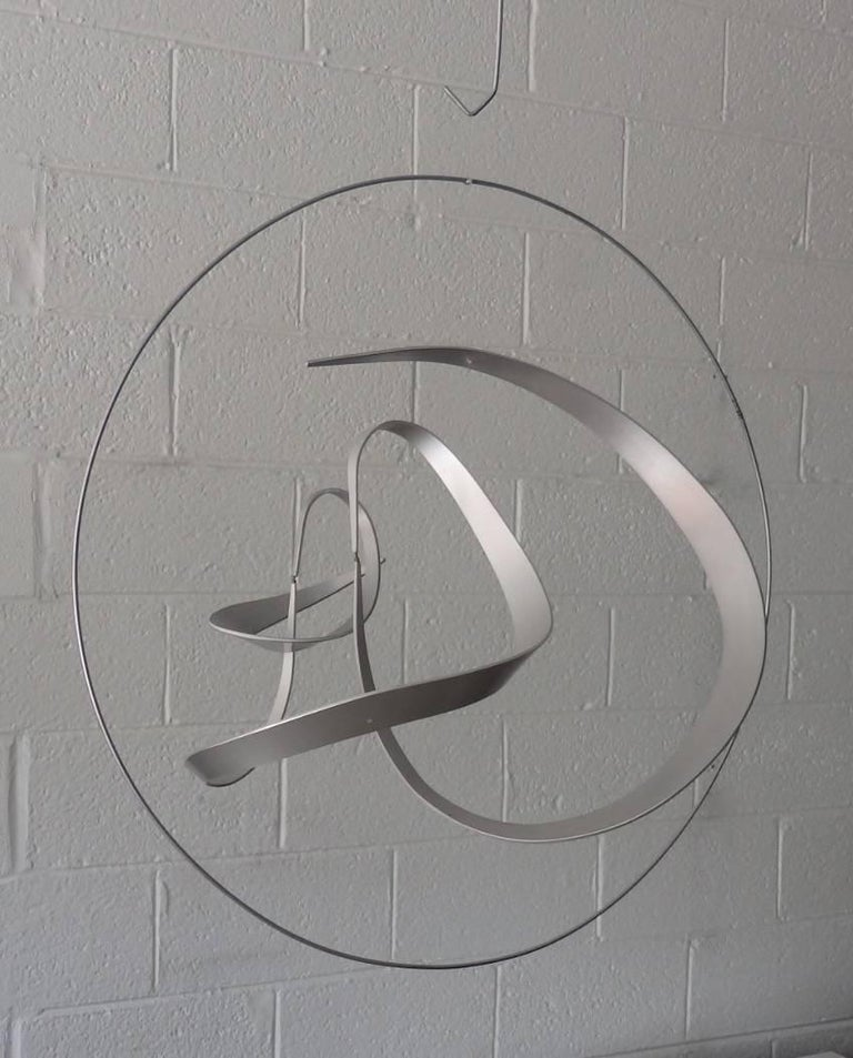 Michael Cutler Hanging Kinetic Aluminium Sculpture In Good Condition For Sale In Ferndale, MI