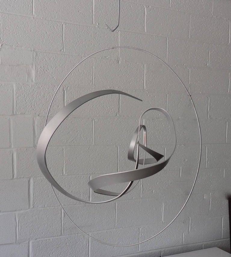 20th Century Michael Cutler Hanging Kinetic Aluminium Sculpture For Sale