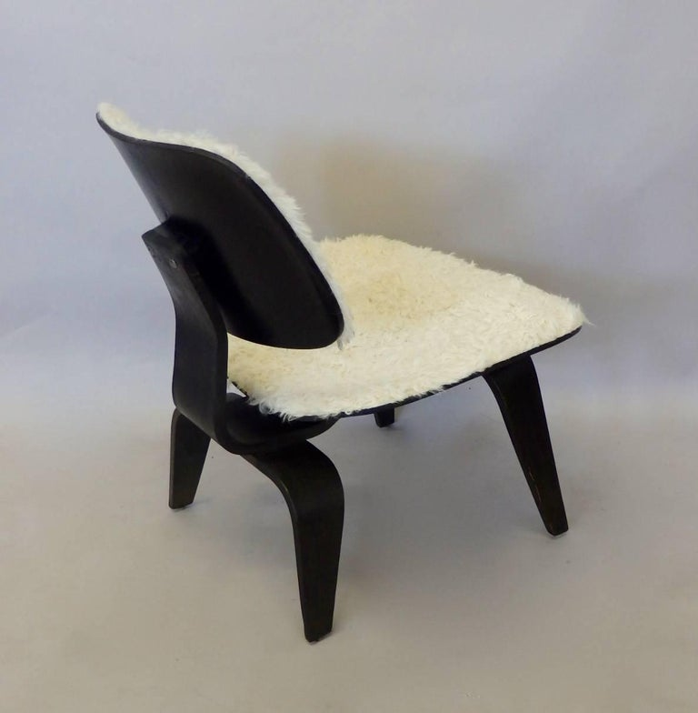 Custom Covered Eames for Herman Miller LCW For Sale 1