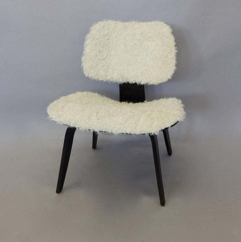 American Custom Covered Eames for Herman Miller LCW For Sale