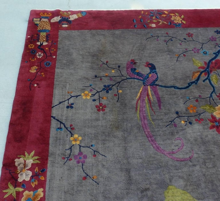 Hand-Knotted Nichols Chinese Art Deco Rug For Sale