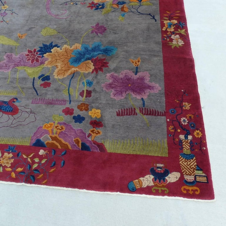 20th Century Nichols Chinese Art Deco Rug For Sale