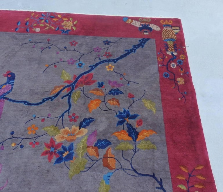 Nichols Chinese Art Deco Rug In Good Condition For Sale In Ferndale, MI