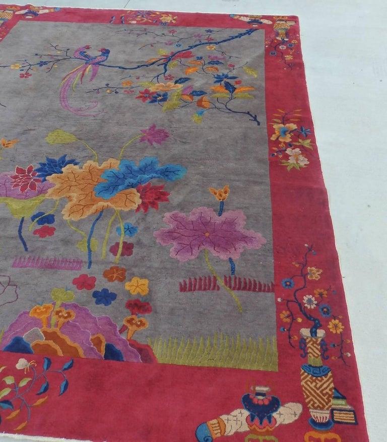 Wool Nichols Chinese Art Deco Rug For Sale