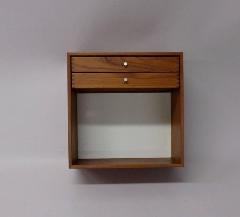 Scandinavian Modern Danish Teak Wall Hanging Cabinet For Sale