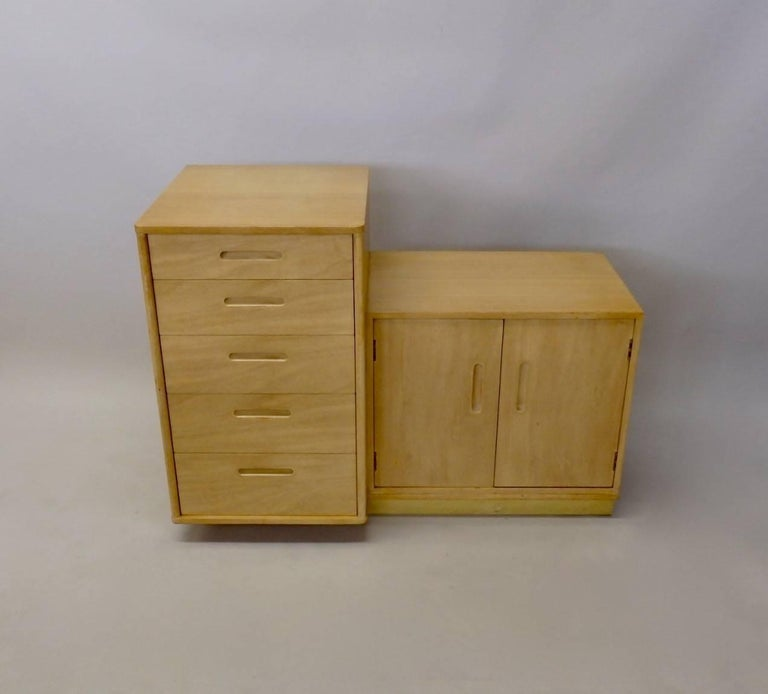 Rare Edward Wormley for Dunbar Custom Contract Right and Left Cabinets In Good Condition For Sale In Ferndale, MI