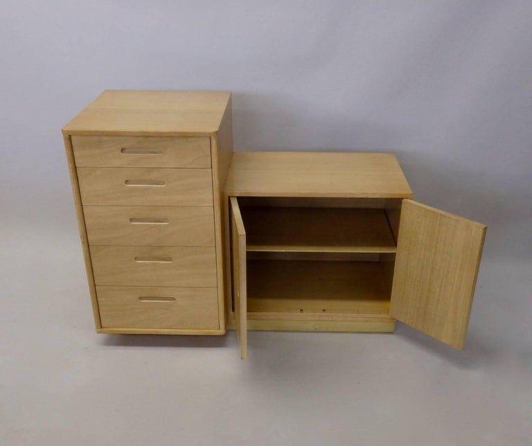 American Rare Edward Wormley for Dunbar Custom Contract Right and Left Cabinets For Sale