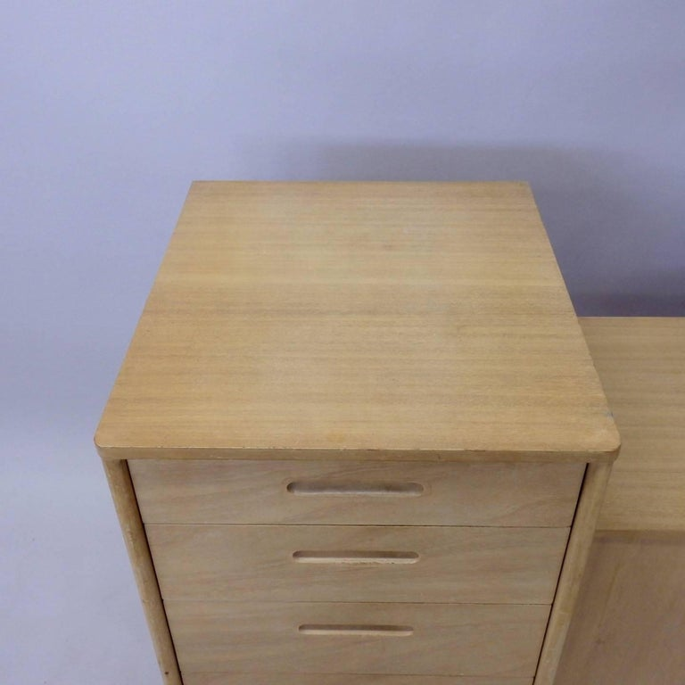 Mid-Century Modern Rare Edward Wormley for Dunbar Custom Contract Right and Left Cabinets For Sale