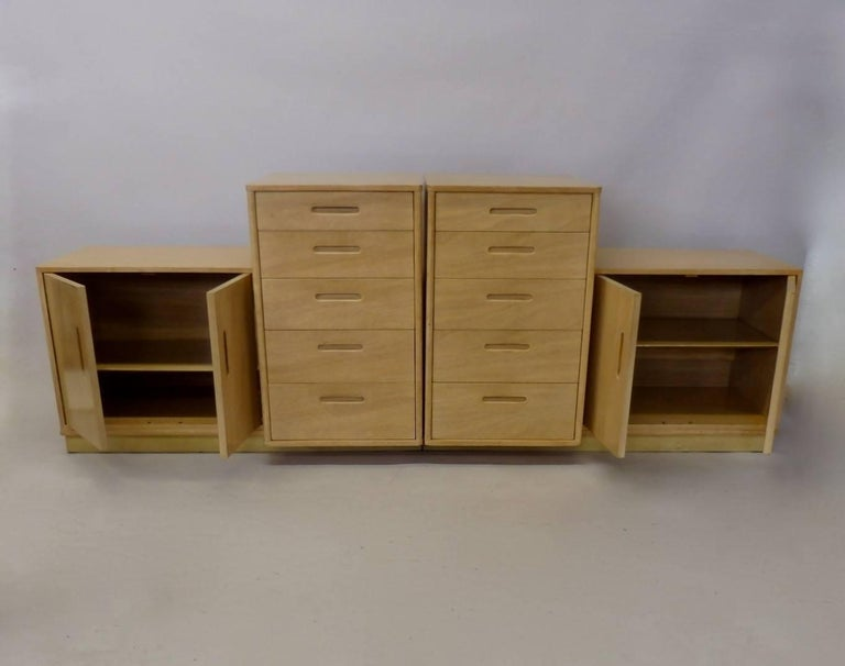 Mid-20th Century Rare Edward Wormley for Dunbar Custom Contract Right and Left Cabinets For Sale