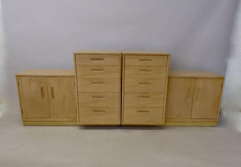 Rare Edward Wormley for Dunbar Custom Contract Right and Left Cabinets For Sale 1