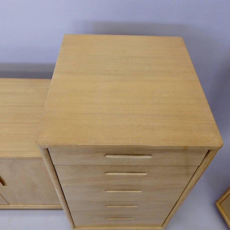 Rare Edward Wormley for Dunbar Custom Contract Right and Left Cabinets For Sale 2