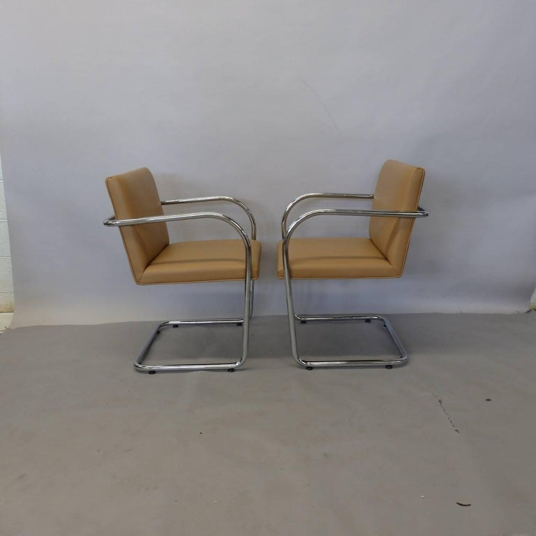 Four Knoll Mies van der Rohe Brno Chrome Tube Chairs For Sale 2