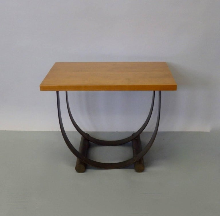 American Donald Deskey Style Art Deco Machine Age Side Table For Sale