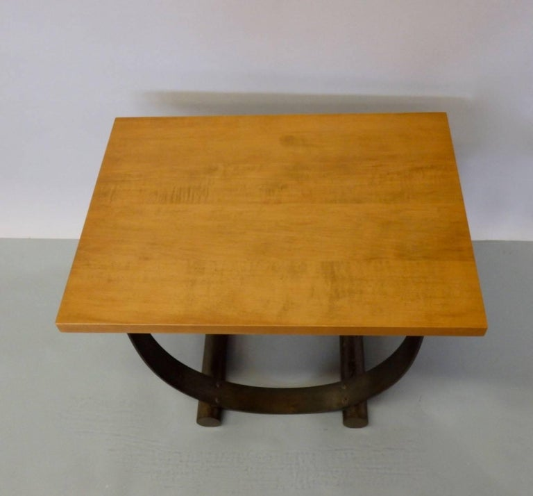 Donald Deskey Style Art Deco Machine Age Side Table In Good Condition For Sale In Ferndale, MI