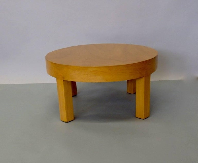 American Low Round Art Deco Side Table or Stand For Sale