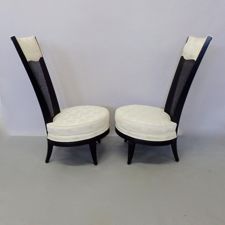 Mid-20th Century Pair of James Mont Style Hollywood Regency Lounge Chairs For Sale