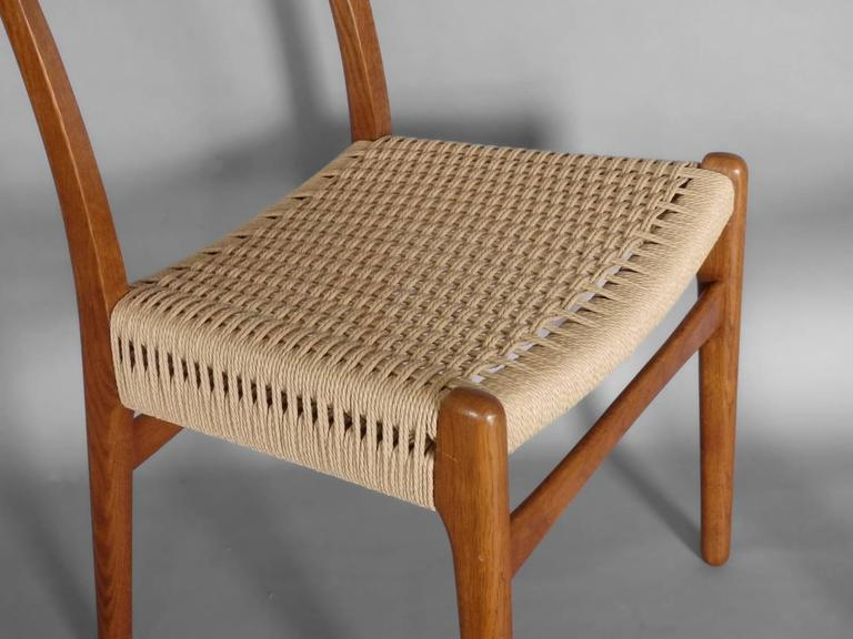 Set of Eight Restored Hans Wegner Ch23 Dining Chairs For Sale at