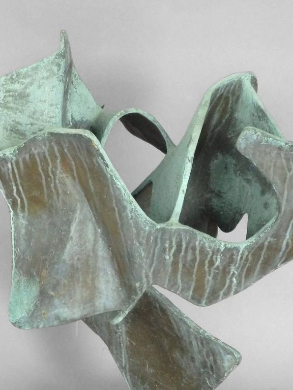 Organic Free-Form Abstract Bronze Sculpture 2