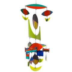 Best Hanging Glass Mobile by Michael and Francis Higgins