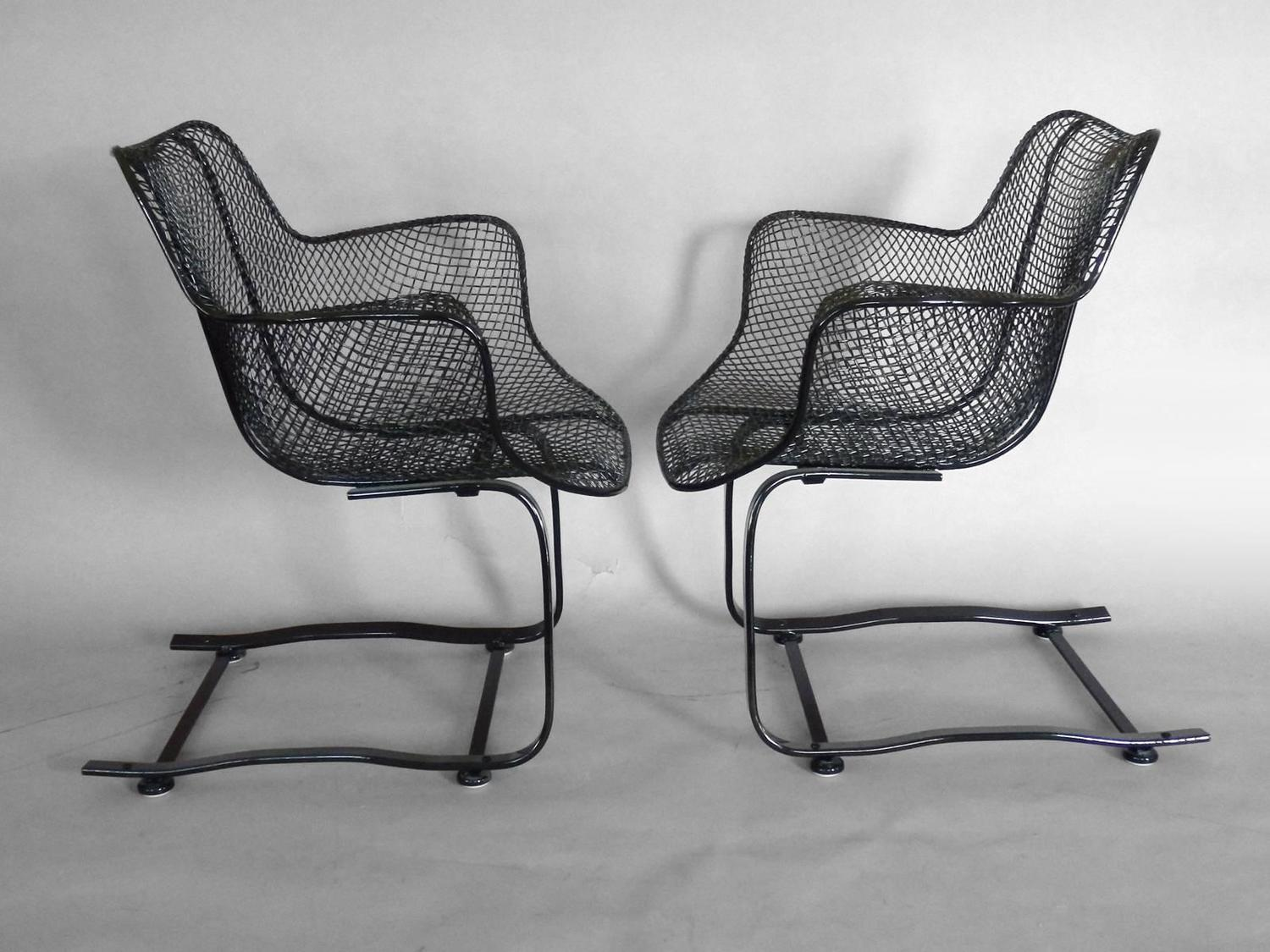 ... of Russell Woodard Wrought Iron Springer Rocking Chairs at 1stdibs