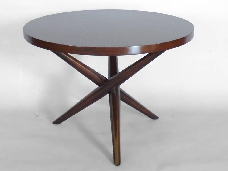 T.H. Robsjohn Gibbings for Widdicomb . Nicely refinished occasional table