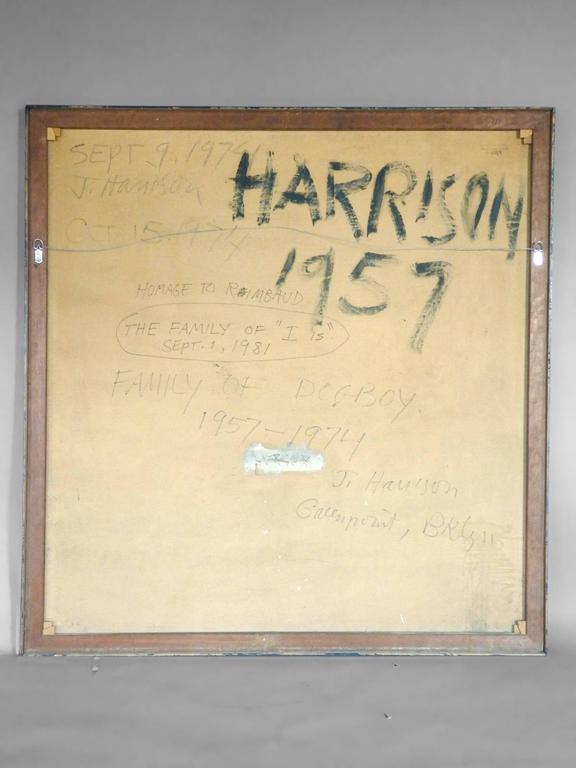 American James C. Harrison Modernist Oil on Canvas For Sale