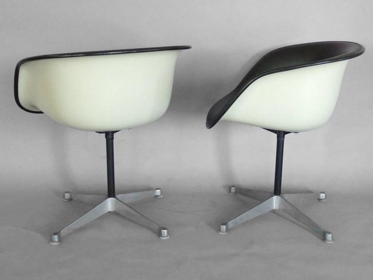 Set of Four Herman Miller Eames Black La Fonda Chairs at 1stdibs