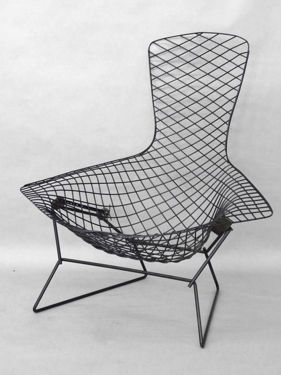 Harry Bertoia for Knoll Black Bird chair with ottoman.  sc 1 st  1stDibs & Harry Bertoia for Knoll Black Bird Chair with Ottoman at 1stdibs