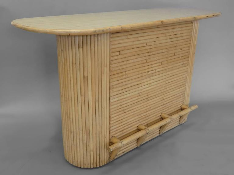 Hong Kong Paul Frankl Style Rattan Bar For Sale