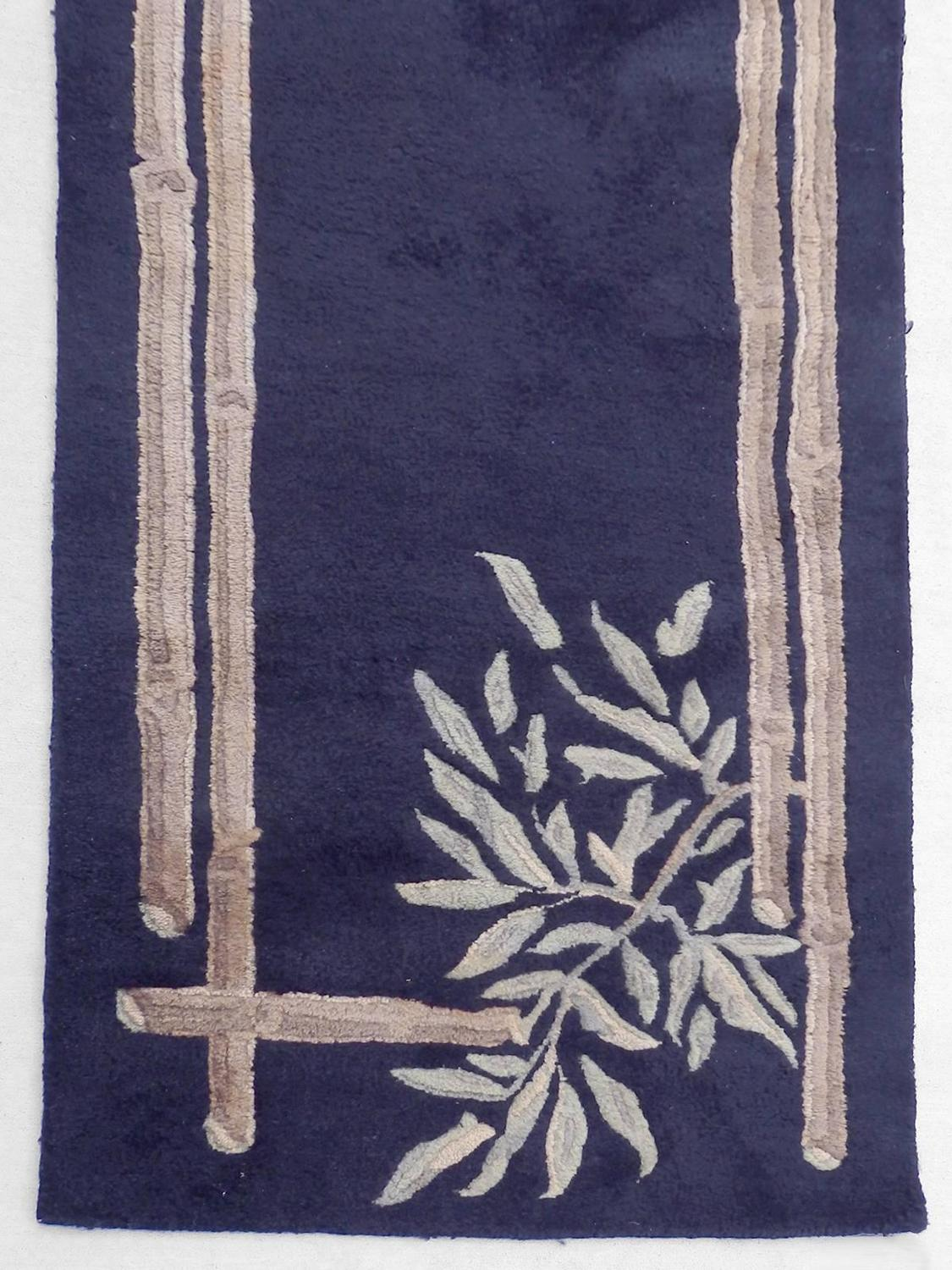 Large Art Deco Themed Wool Runner Rug For Sale At 1stdibs