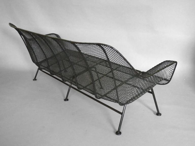 Full Size Woodard Wrought Iron with Steel Mesh Couch 3