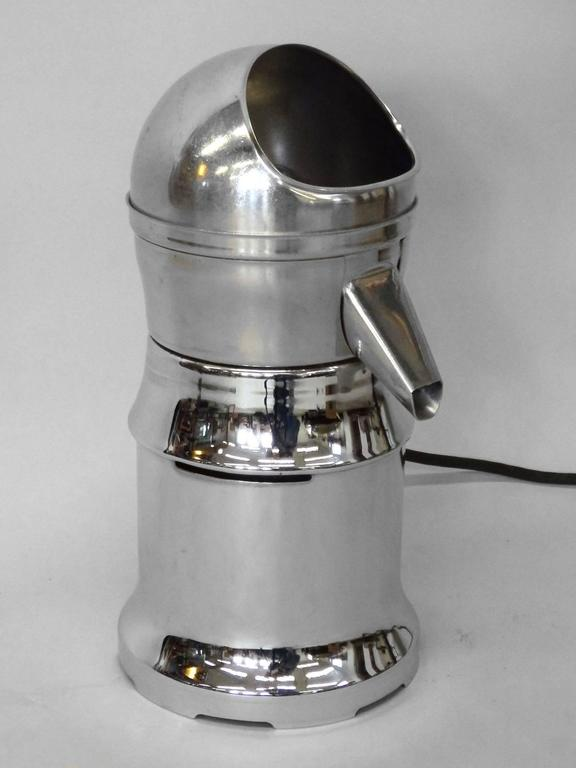 Counter Top Juicer ~ Chrome finish art deco countertop industrial juicer for
