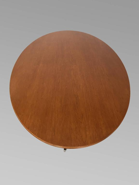 Nicely Finished Florence Knoll Teak Top Conference Table Desk 2