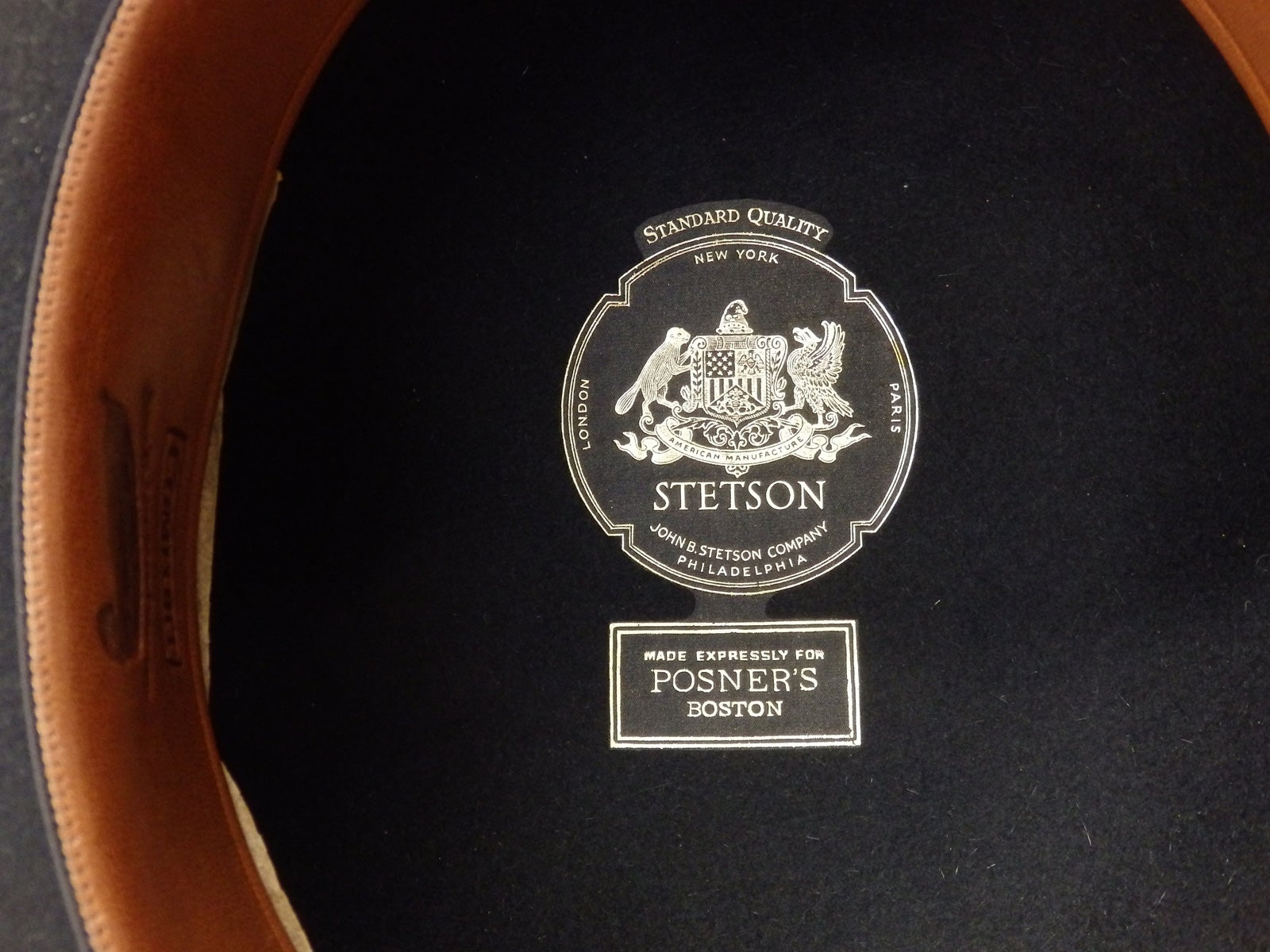 d39c9155 Nicely Preserved John B. Stetson Black Derby For Sale at 1stdibs