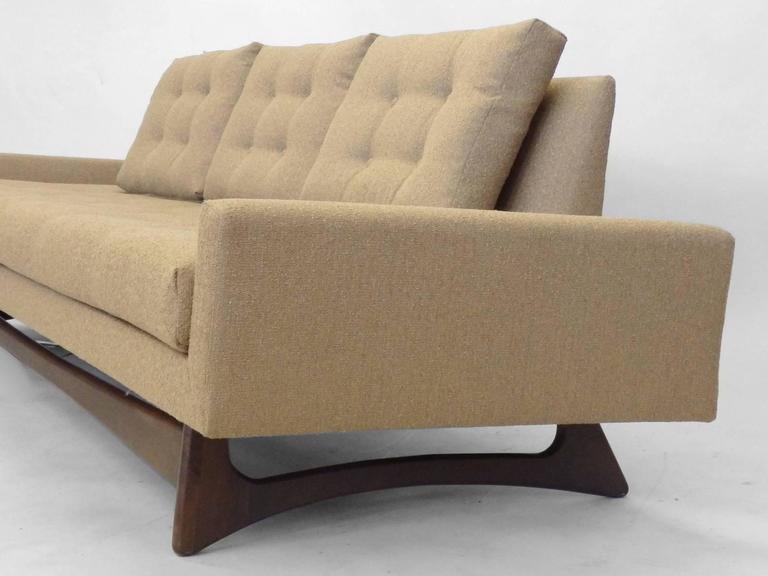 American Adrian Pearsall Craft Associates Large Gondola Sofa For Sale