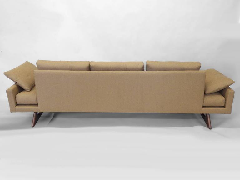 Adrian Pearsall Craft Associates Large Gondola Sofa In Excellent Condition For Sale In Ferndale, MI