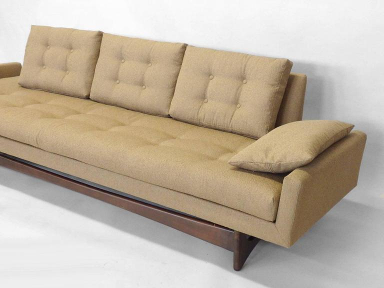 Adrian Pearsall Craft Associates Large Gondola Sofa For Sale 1
