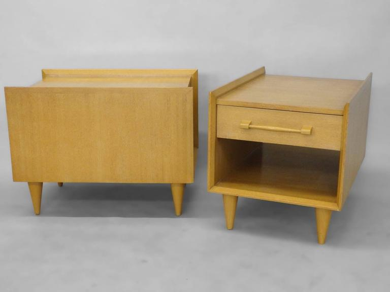 Sherman Bertram Co. pair of California Modern side tables.