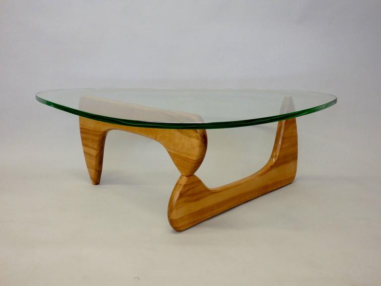Early 1950s Isamu Noguchi Birch Base Glass Top Coffee Table At 1stdibs