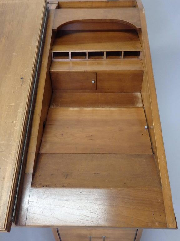 Johann Tapp Custom Built Art Deco Artists Drafting Desk with Hidden Compartments In Good Condition For Sale In Ferndale, MI
