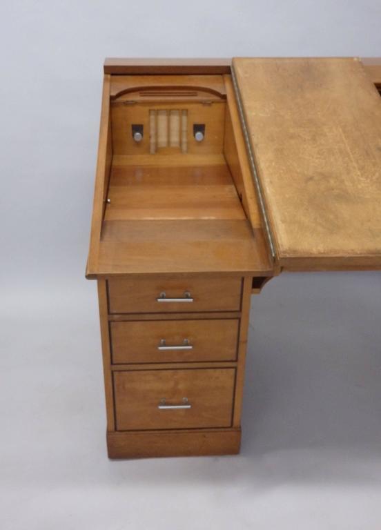 American Johann Tapp Custom Built Art Deco Artists Drafting Desk with Hidden Compartments For Sale