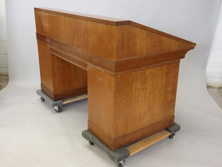 Johann Tapp Custom Built Art Deco Artists Drafting Desk with Hidden Compartments For Sale 1