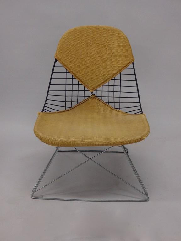 Galvanized Early and Original Charles and Ray Eames LKR Chair on Zinc Cats Cradle Base For Sale