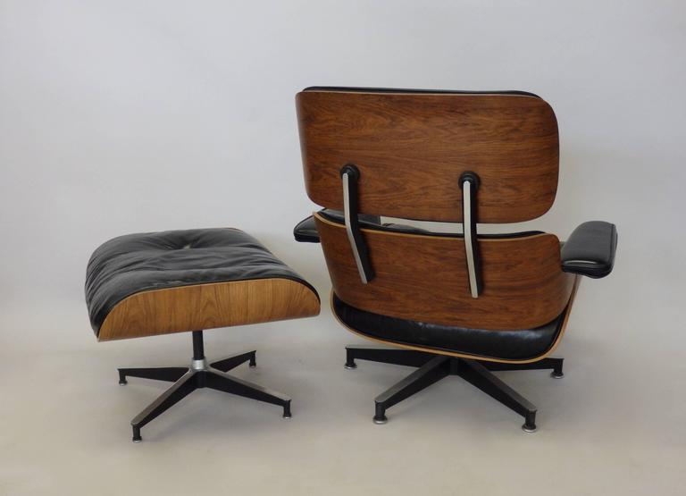 Early Production Charles And Ray Eames Rosewood Lounge