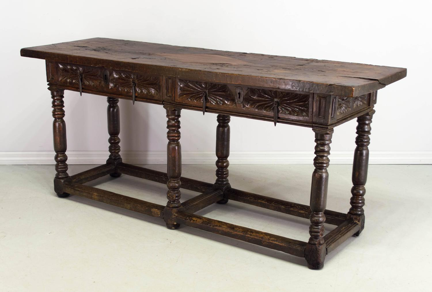 18th century spanish baroque console table at 1stdibs - Baroque console table ...