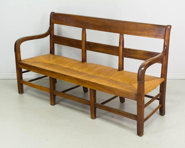 19th Century Country French Banquette Or Settee At 1stdibs